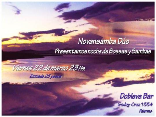 Flyer Novansamba en Dobleve Bar (22-3-2013)