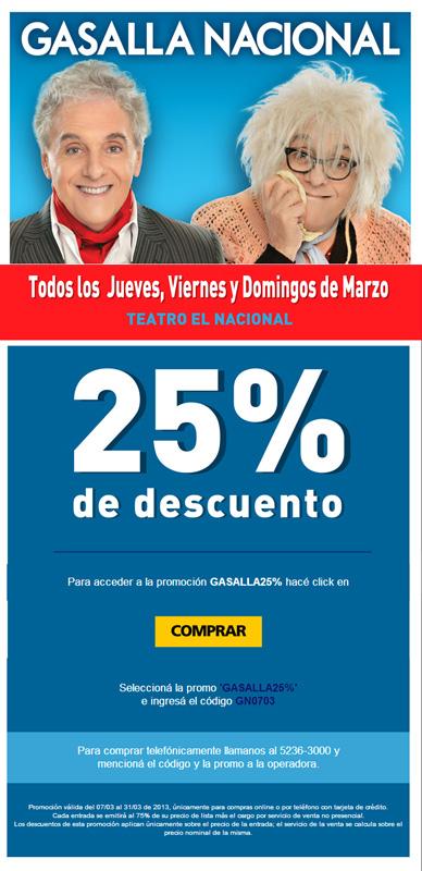 Gasalla Nacional promo