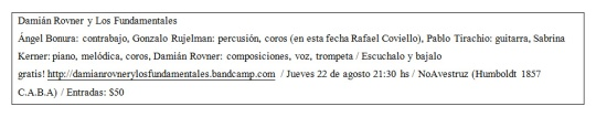 Ficha técnica Damián Rovner