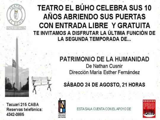 Teatro El Buho aniversario